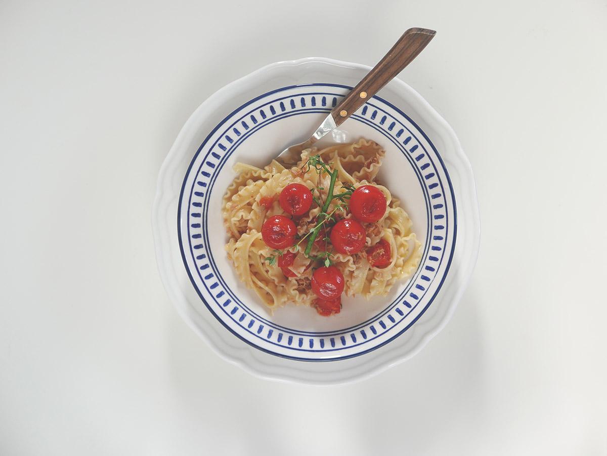 makaron z tunczykiem przepis
